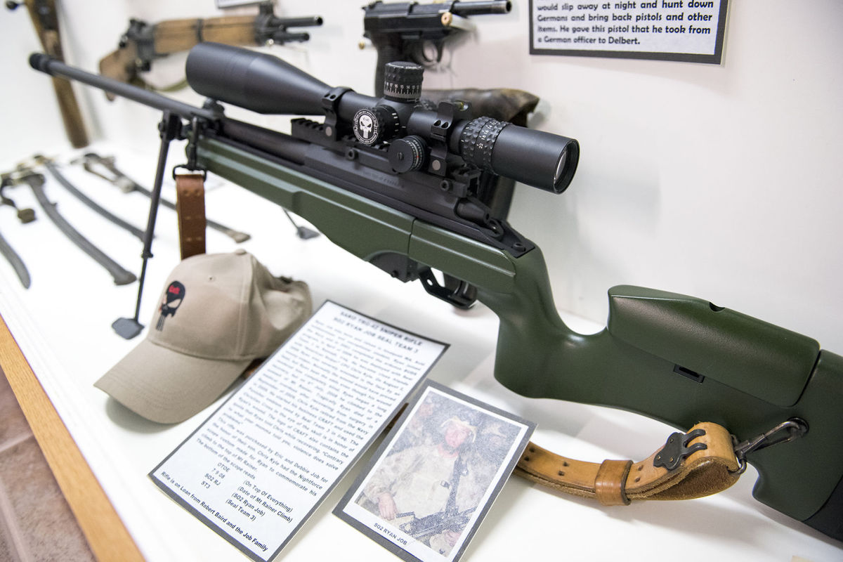 Sniper Rifle on display